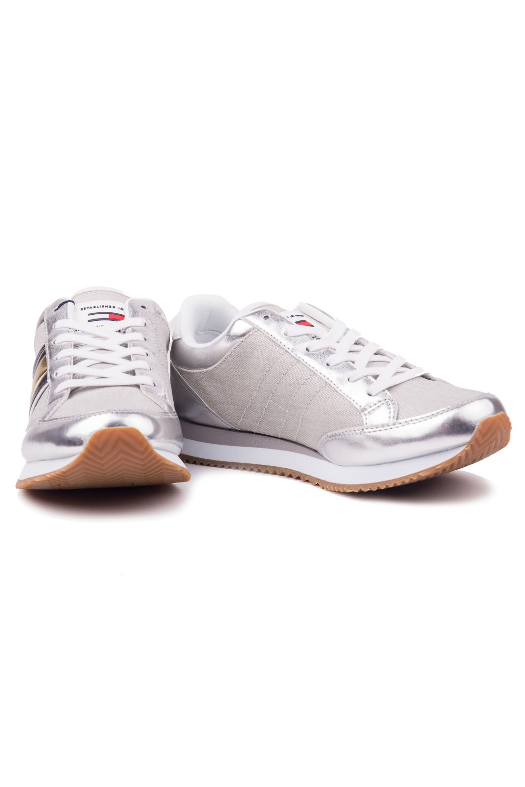 Tommy Hilfiger silver sneakers WMN