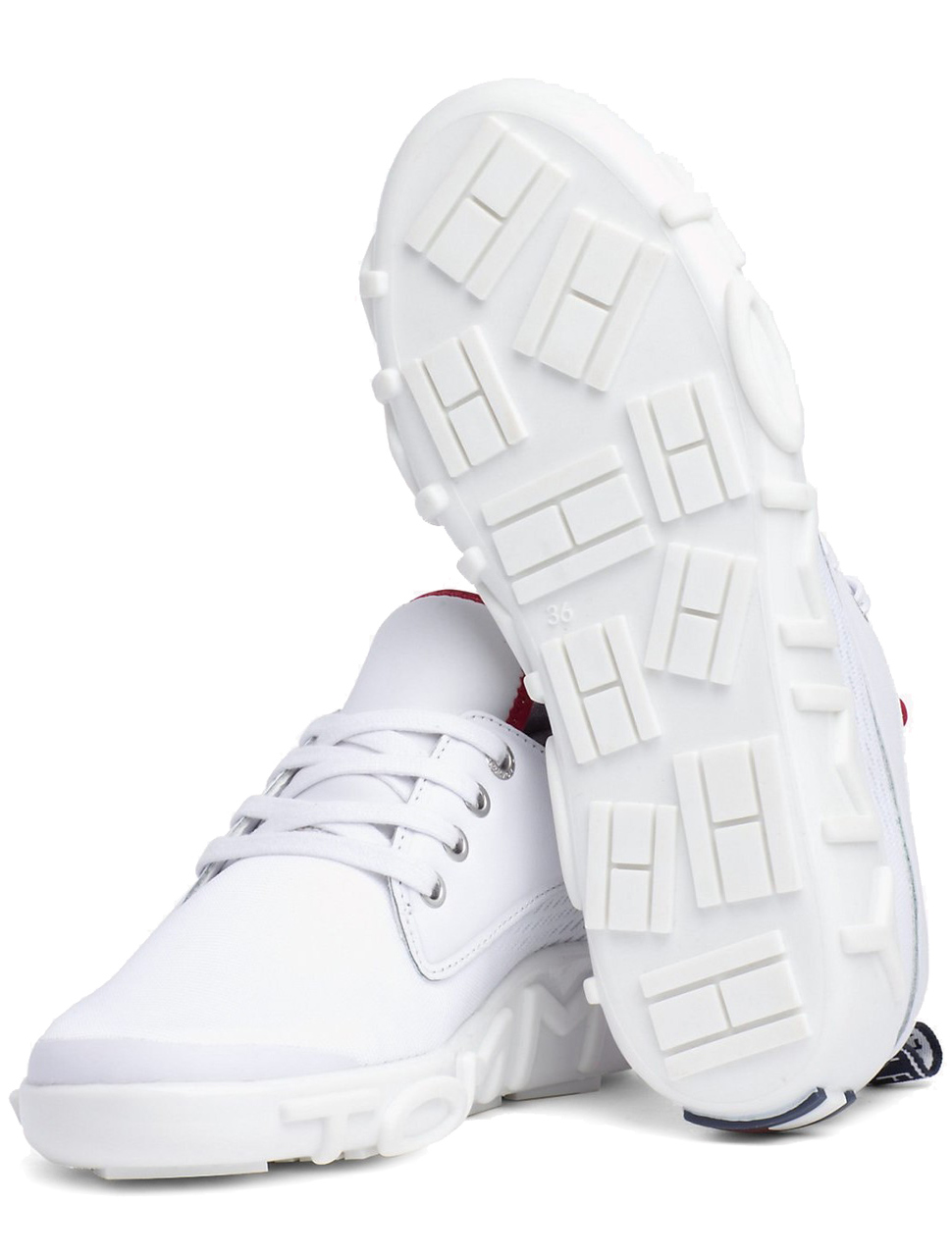 c935d6a63ff Tommy Hilfiger White Sneakers Knit Tommy Sneaker RWB - Women´s shoes ...
