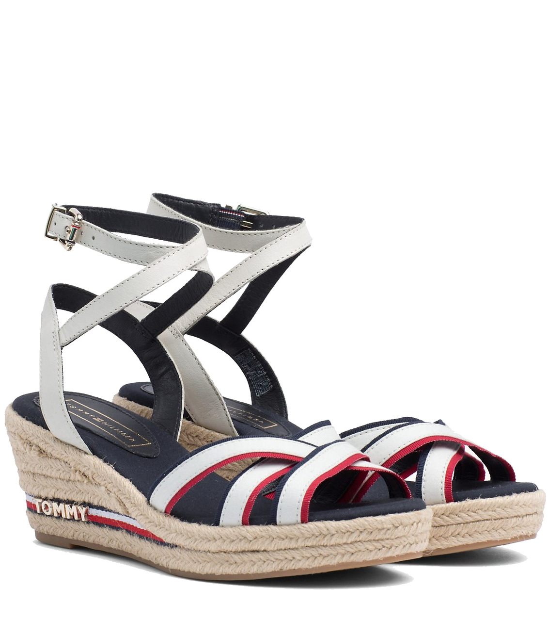 e8fb186f1 Tommy Hilfiger white shoe on Iconic Elba Corporate Ribbon RWB ...
