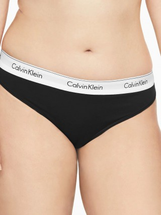 358482c03c Calvin Klein black thong Thong Modern Cotton Plus with a wide rubber