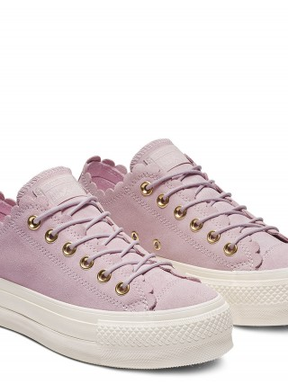 e5d87f511d1b Converse pink leather sneakers with platform Chuck Taylor All Star Lift OX  Pink Foam