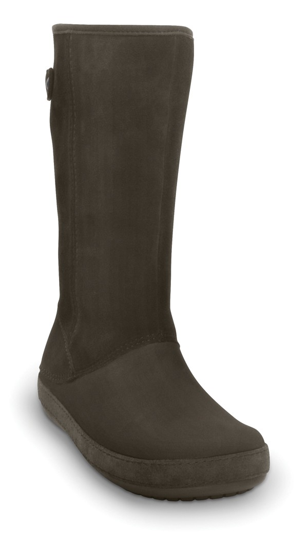b419663537 CROCS Berryessa Tall Suede Espresso - Women´s shoes • Differenta.com