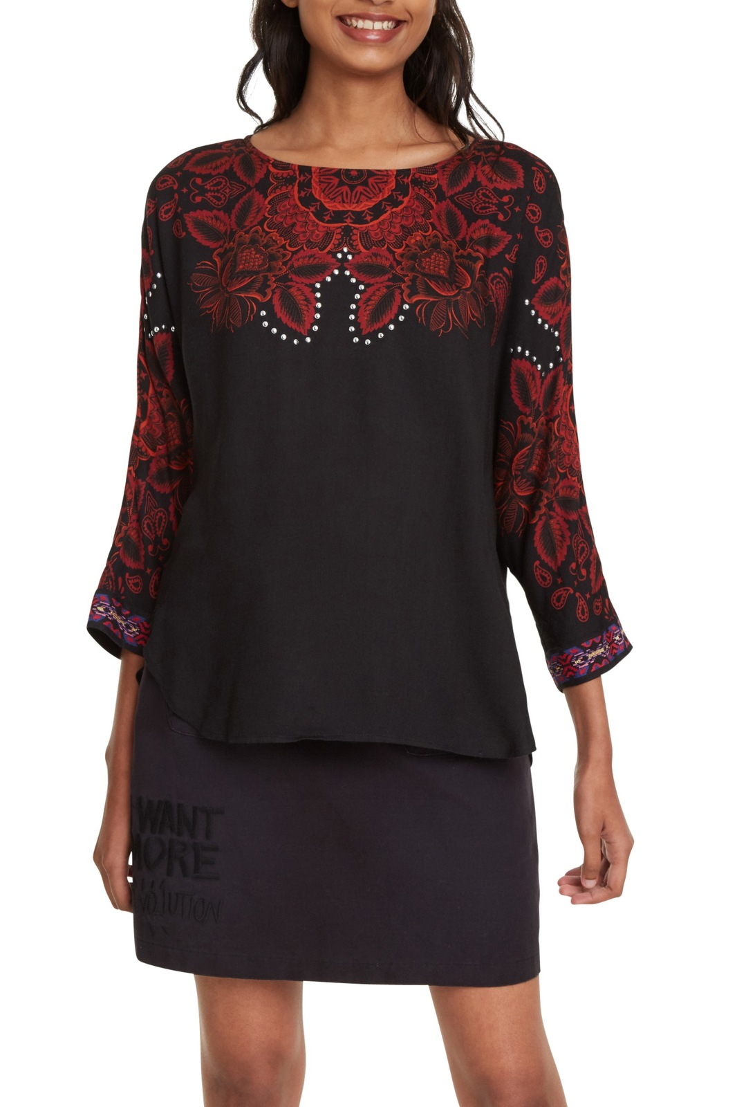 Desigual black top Blus Lumbe