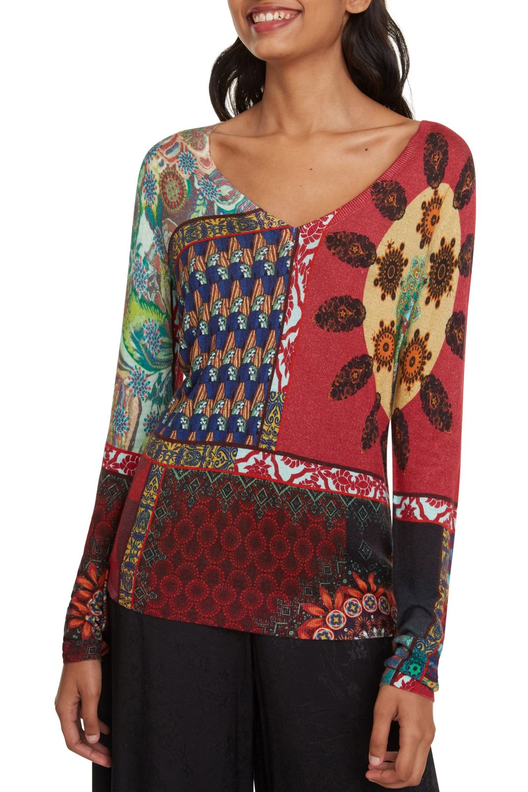 Desigual multicolor sweater Jers Michelle