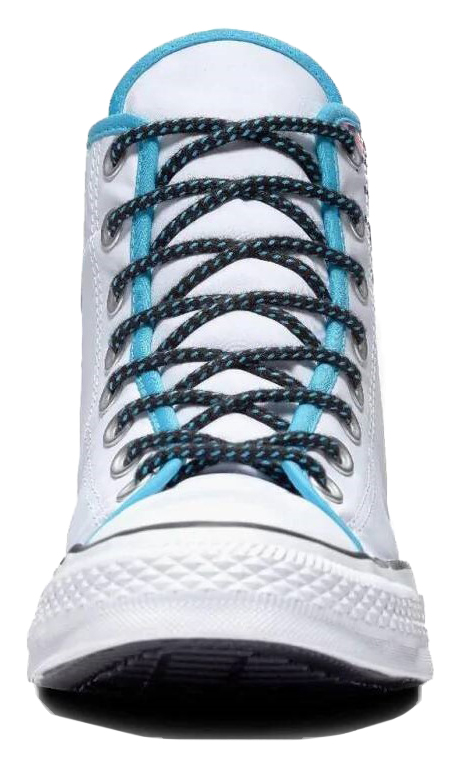 Converse white men´s sneakers Chuck Taylor All Star Hi White/Gnarly Blue