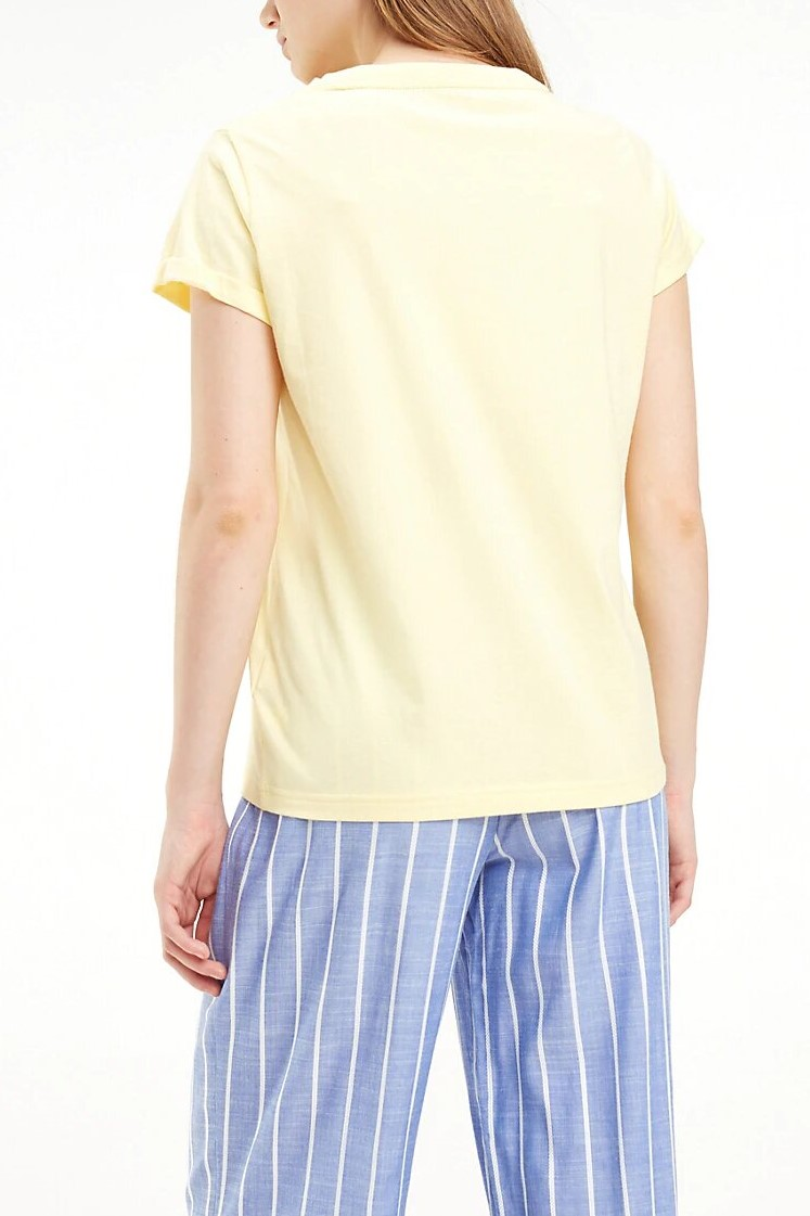 Tommy Hilfiger yellow T-shirt CN TEE SS