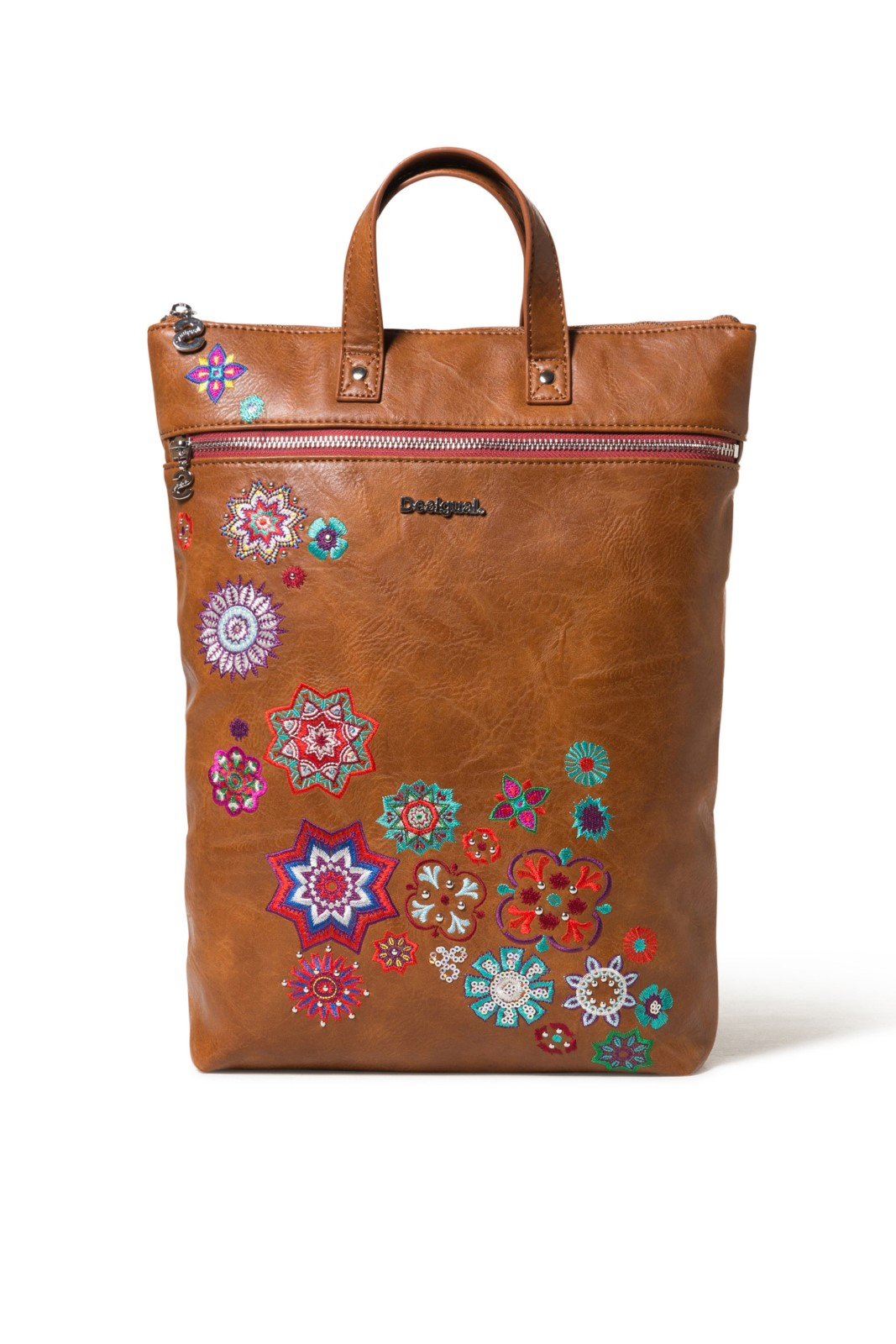 Desigual brown multifunctional bag backpack Back Nanit Baza