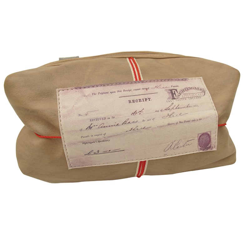 Disaster beige cosmetic bag Apothecary Elixir Make Up