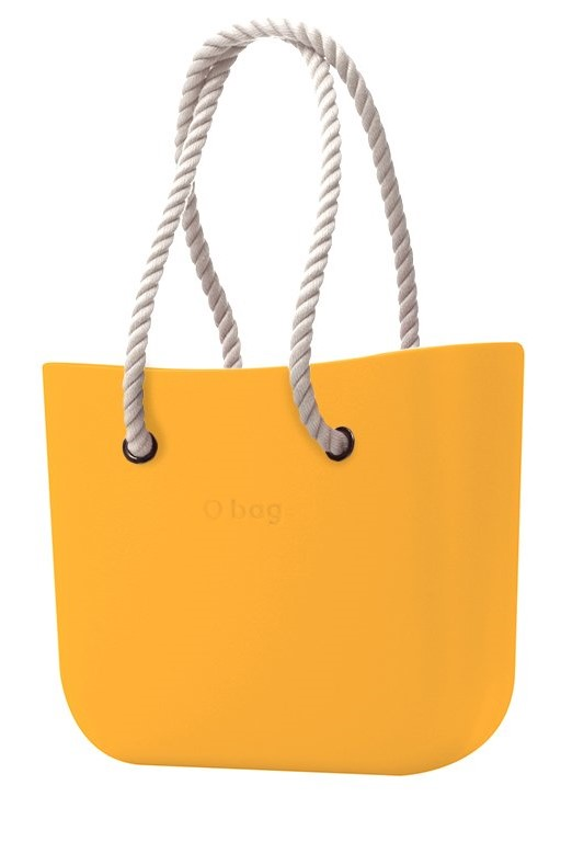O bag handbag Becco Doca with long white ropes strings