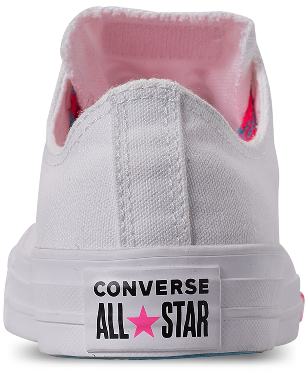 Converse white sneakers Chuck Taylor All Star OX White/Race Pink/Gnarly Blue
