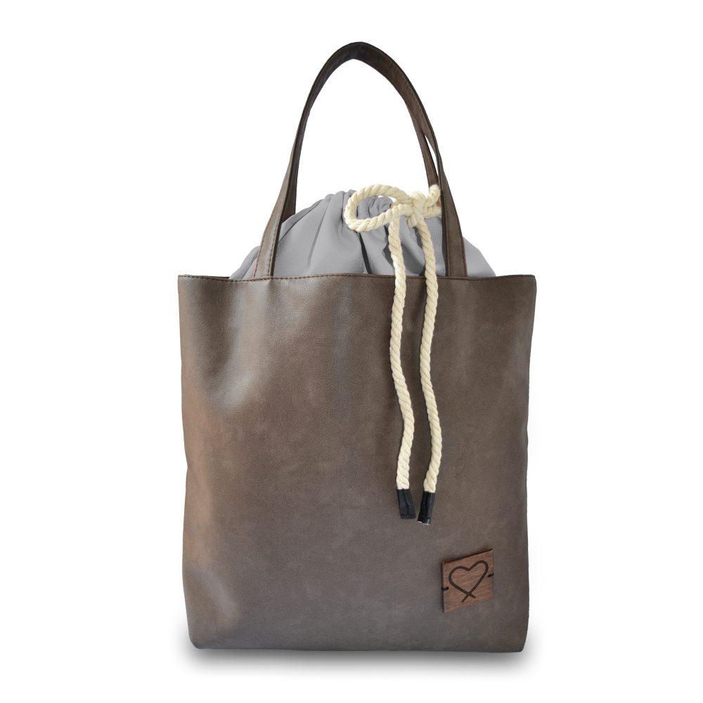 brown multifunctional handbag Grey Secret