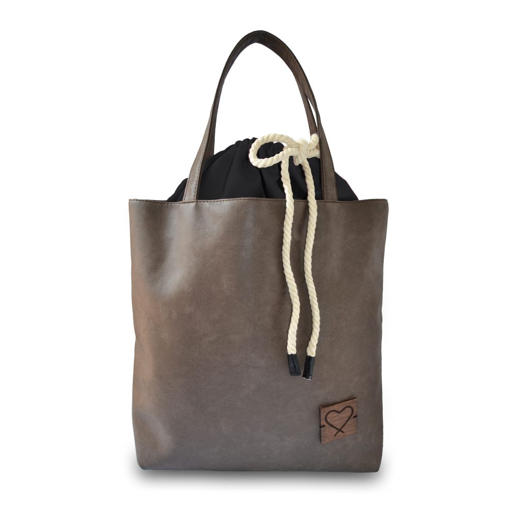 brown multifunctional handbag Black is Bag