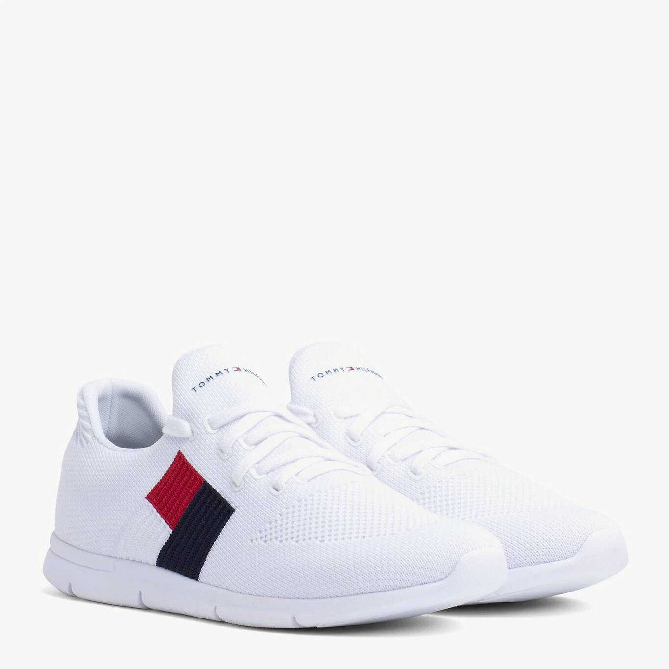 Tommy Hilfiger white sneakers Knitted Flag Light Sneaker White