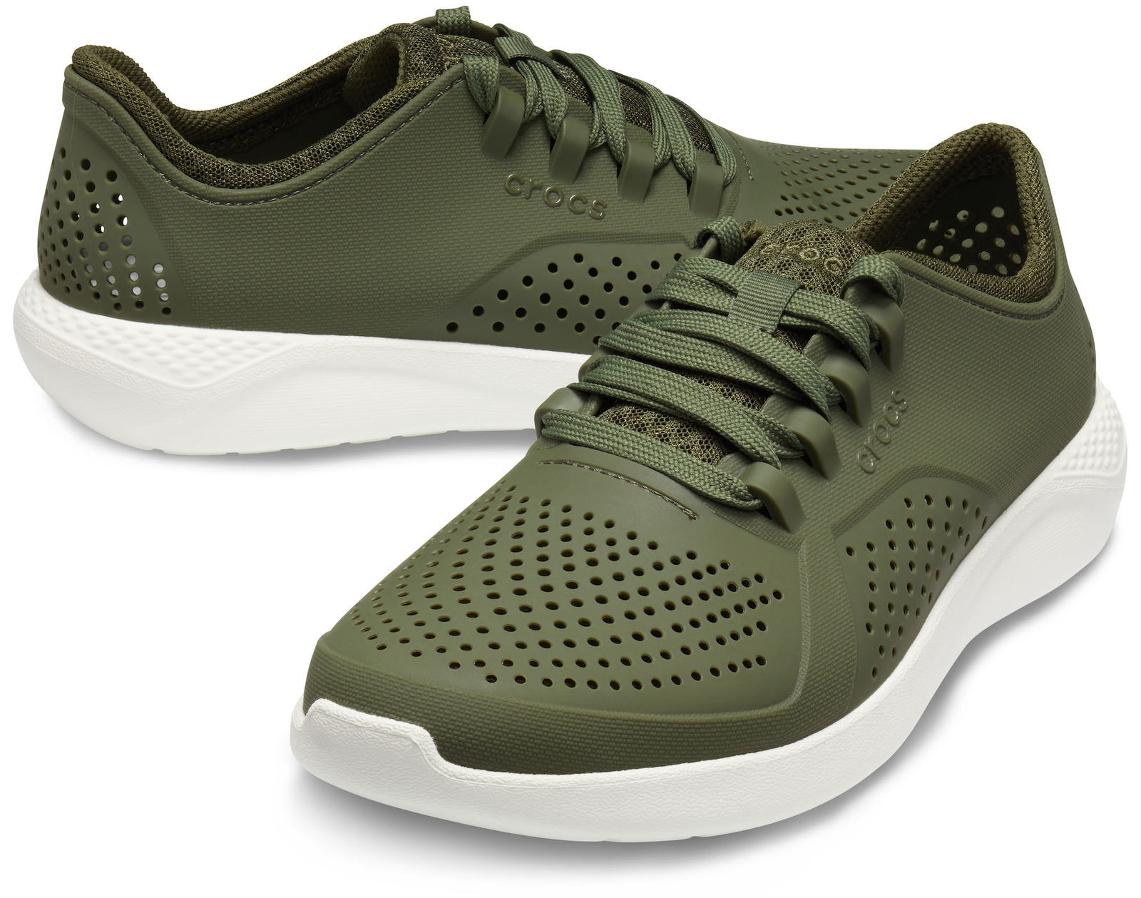 Crocs khaki men´s sneakers LiteRide Pacer Army Green/White