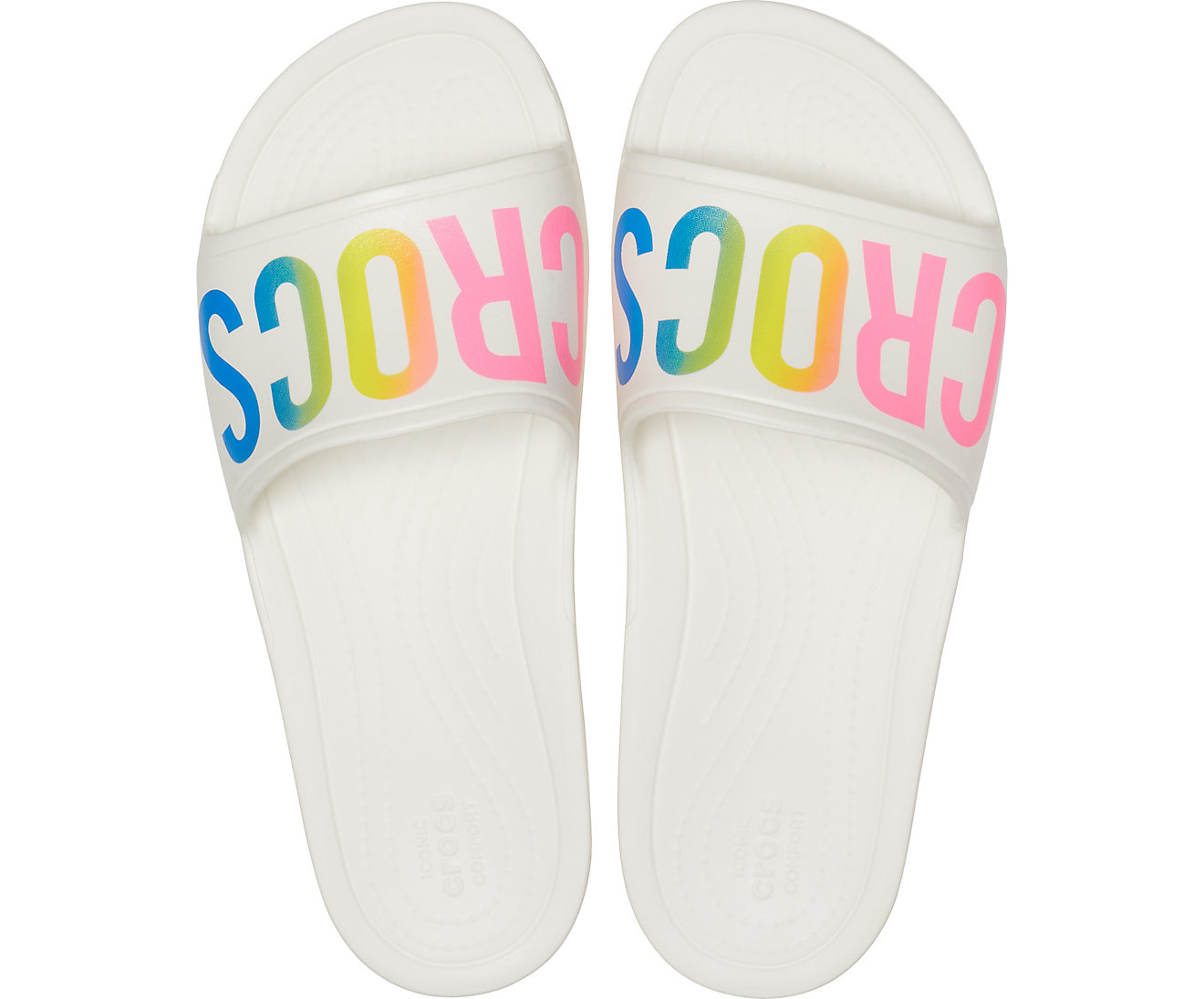 Crocs white slippers CrocsSloane Logo Mania Slide White