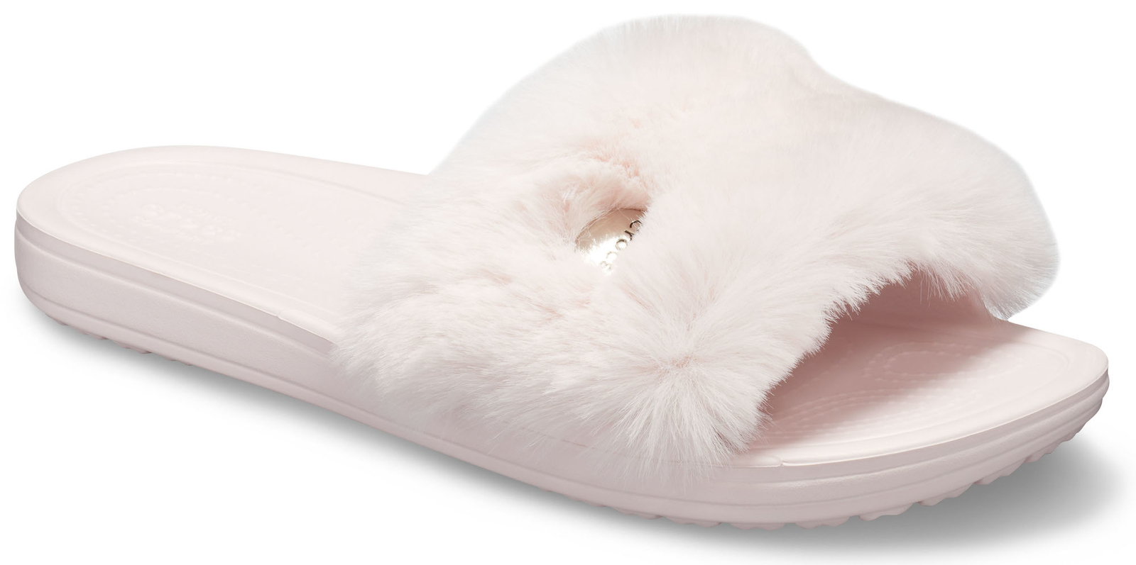 Crocs powdery slippers Crocs Sloane Luxe Slide Barely Pink