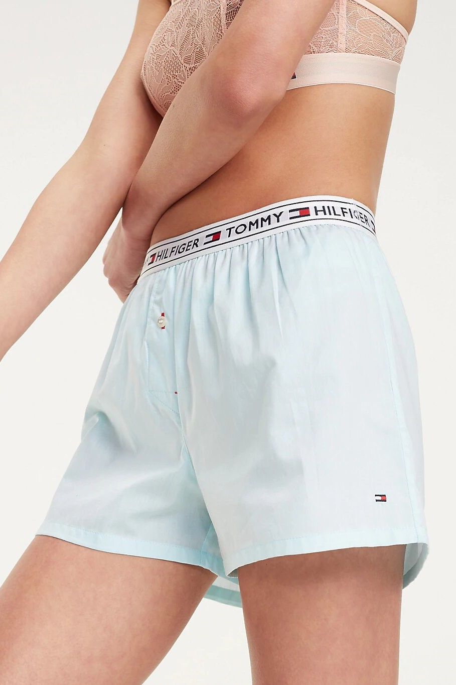 Tommy Hilfiger turquoise women´s household shorts Woven Short