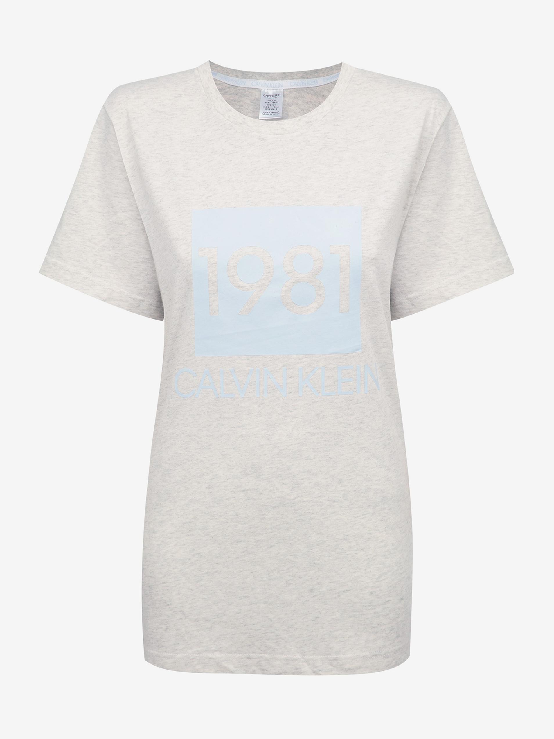 Calvin Klein grey women´s T-shirt S/S Crew Neck with logo