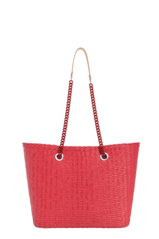 O bag  red handbag URBAN MINI Fragola