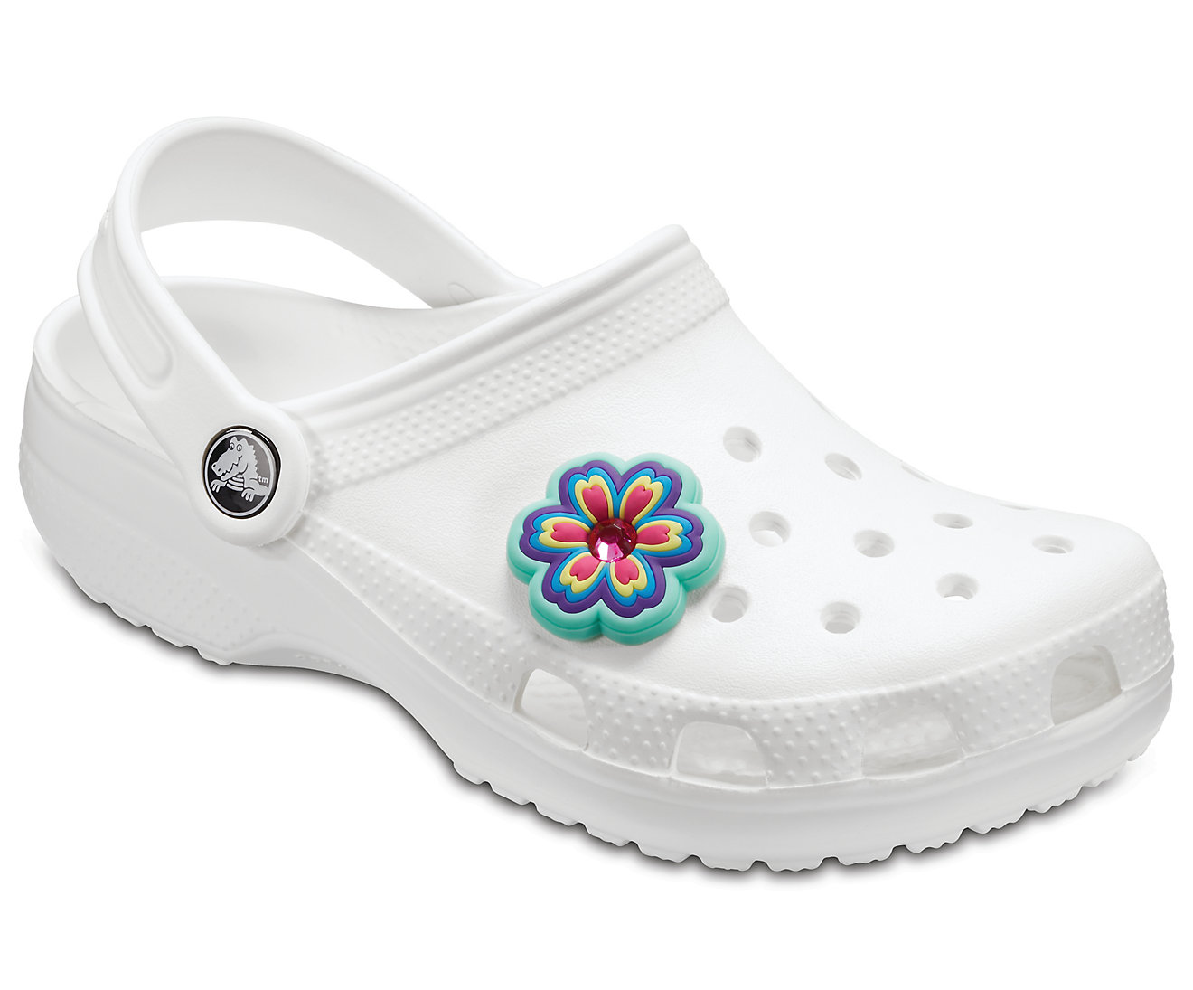 Crocs multicolor Rhinestone Rainbow Flower