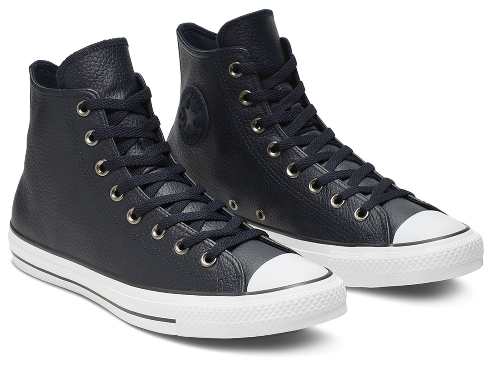 Converse Dark Blue Unisex Leather Sneakers Chuck Taylor All Star ...