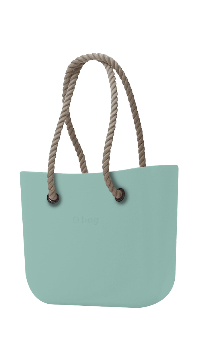 O bag  turquoise handbag Turchese with long natural strings