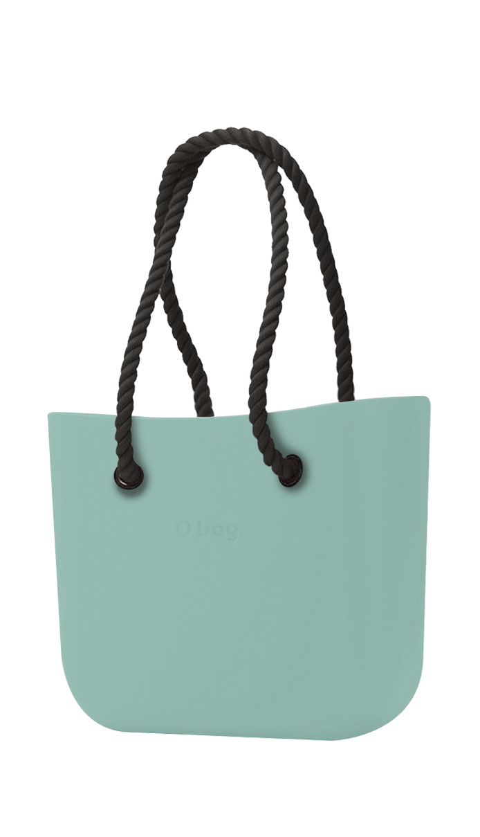 O bag  turquoise handbag Turchese with long black strings