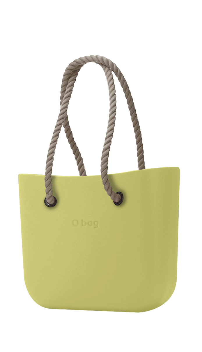 O bag  green handbag Celery Green with long natural strings