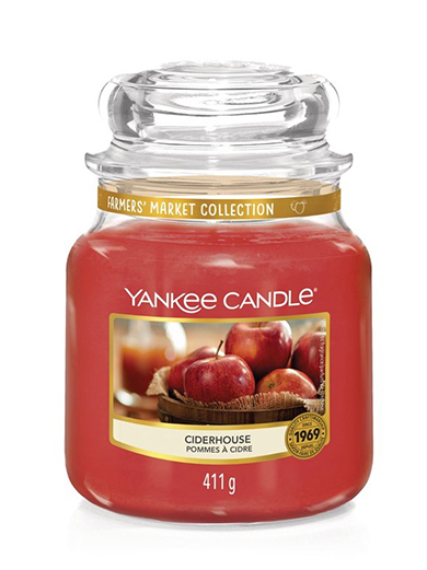 Yankee Candle red fragrant candle Ciderhouse Classic Medium