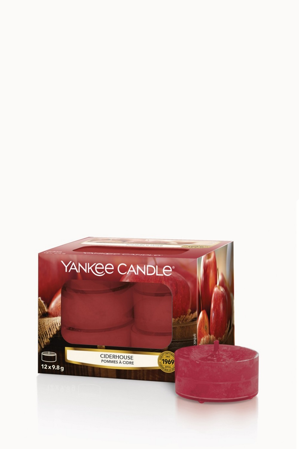 Yankee Candle red fragrant tea candles Ciderhouse