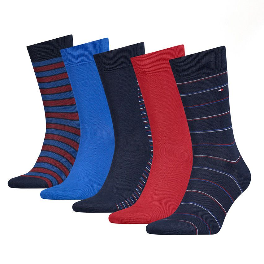 Tommy Hilfiger 5 pack socks TH Men Sharp Stripes Giftbox 5P