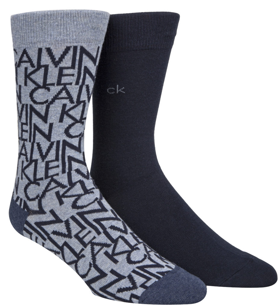 Calvin Klein unisex socks 2PK All Over Logo Crew