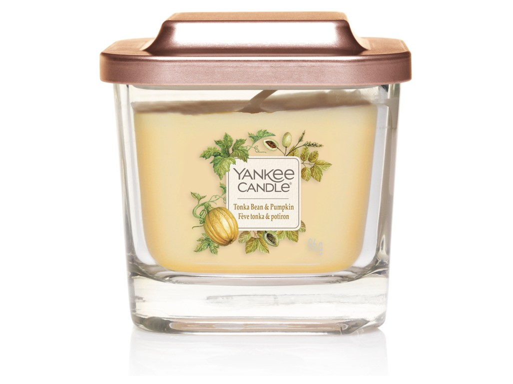 Yankee Candle yellow fragrant candle Elevation Tonka & Pumkin small square 1 wick