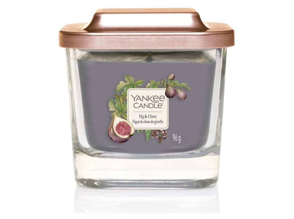 Yankee Candle purple fragrant candle Elevation Fig & Clove small square 1 wick
