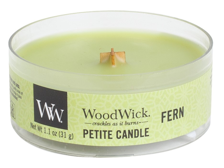 WoodWick green fragrant candle Petite Fern