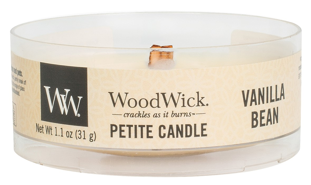 WoodWick cream / cream fragrant candle Petite Vanilla Bean