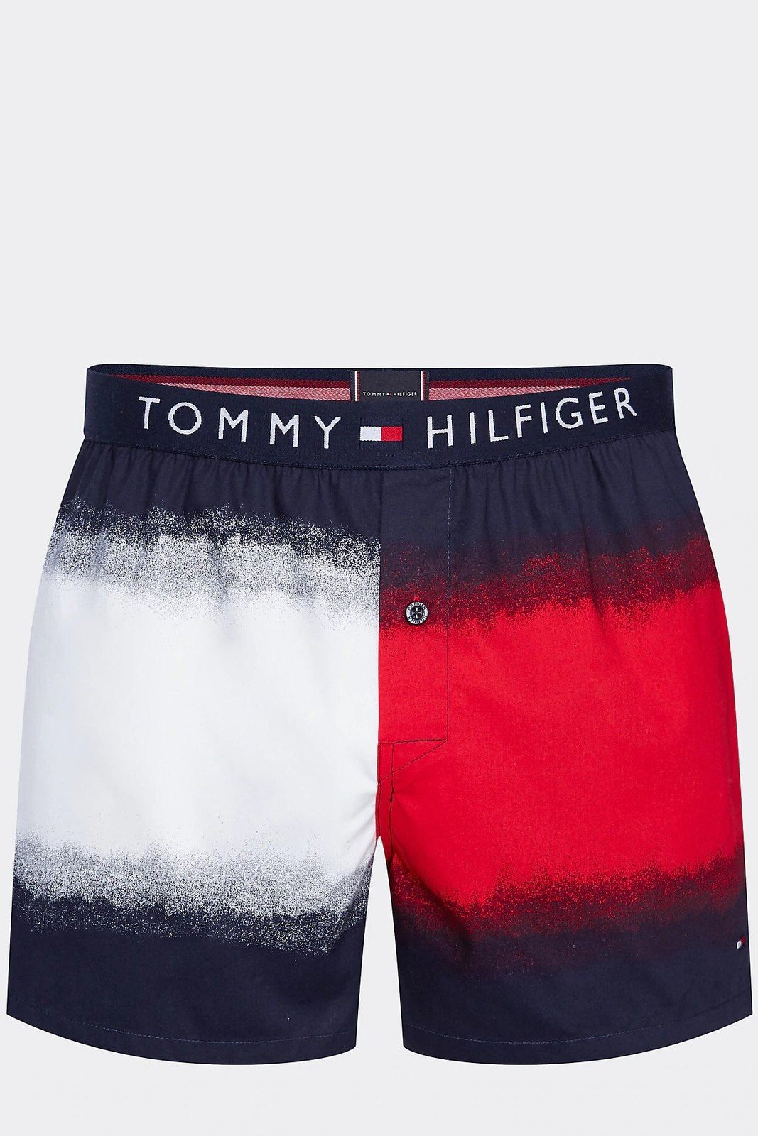 Tommy Hilfiger blue men´s shorts Woven Boxer Dip Dye Flag