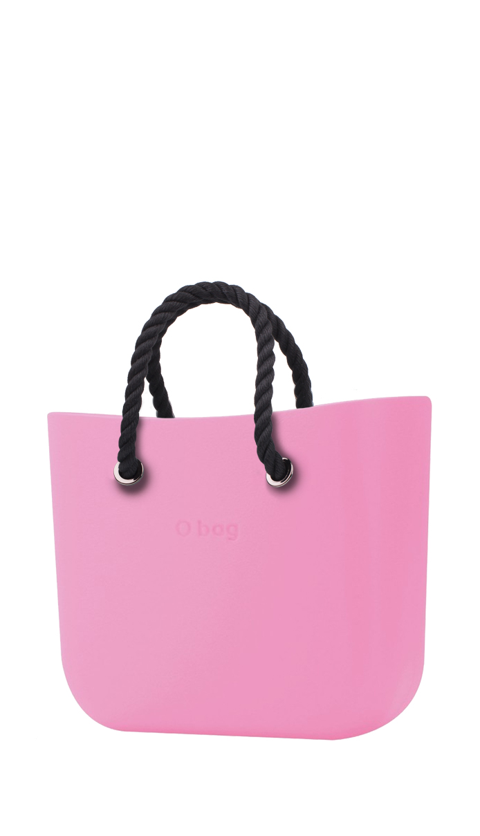 O bag  pink handbag MINI Pink with short black strings