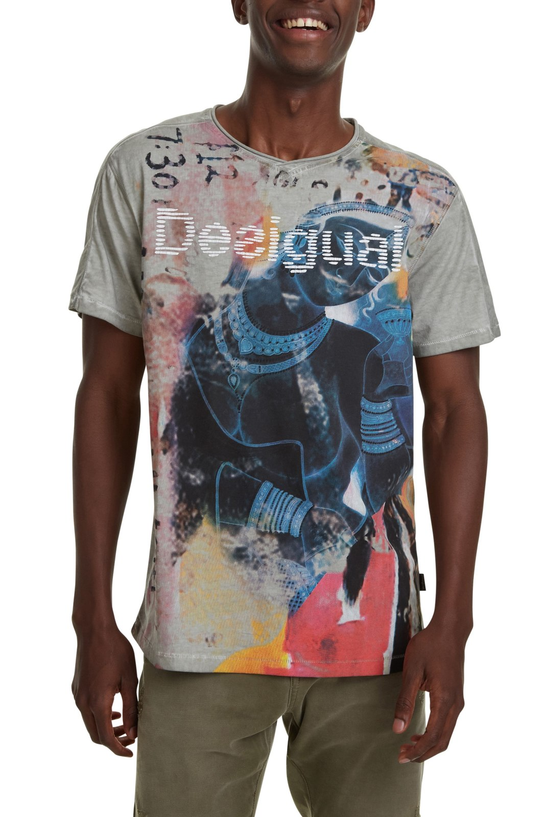 Desigual Colourful Men's T-shirt TS Eugenio