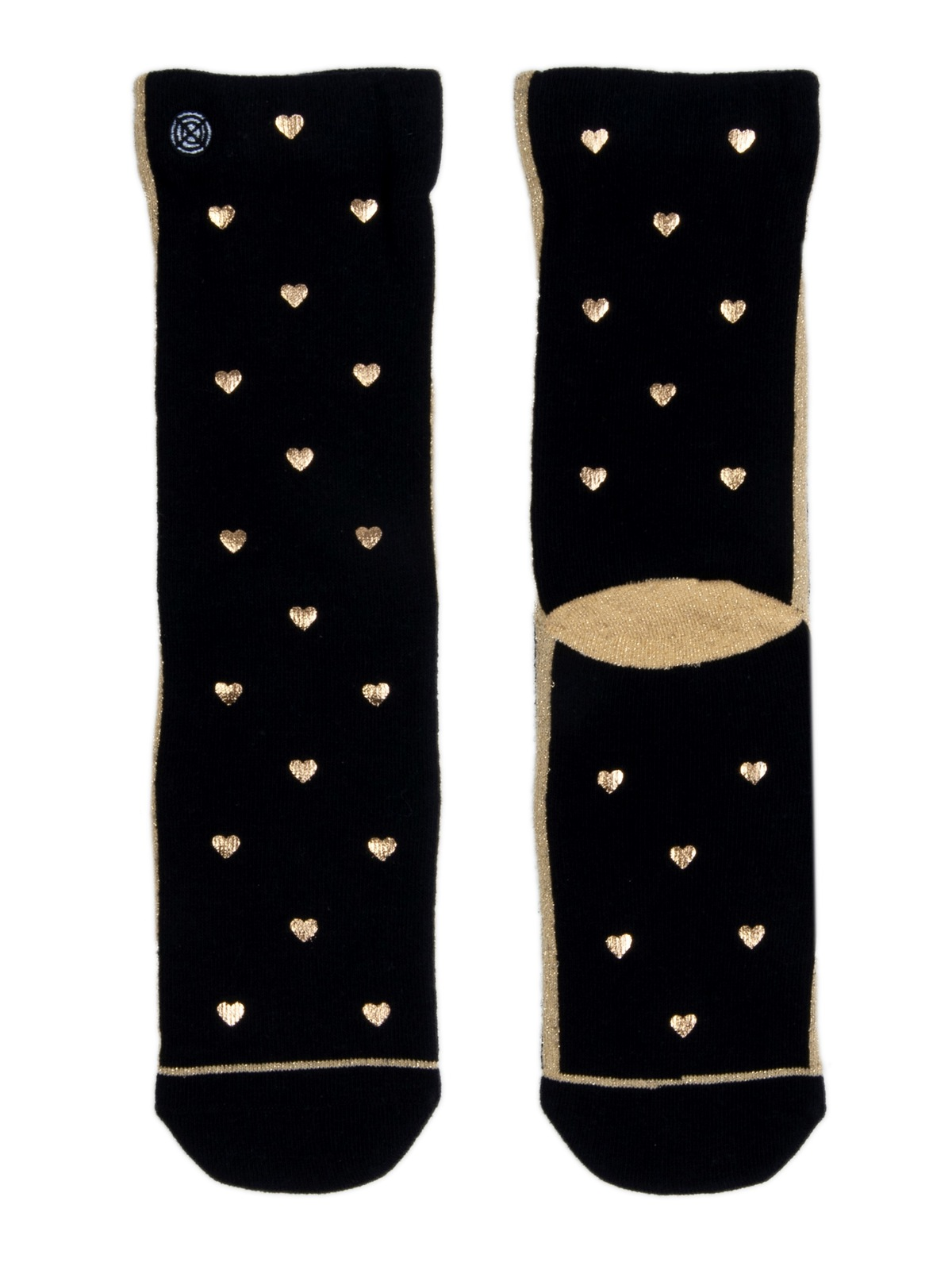 XPOOOS black women´s socks My Love with hearts