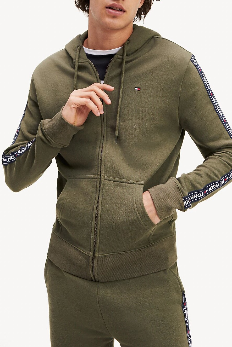 Tommy Hilfiger khaki men´s sweatshirt L/S Hoodie hooded