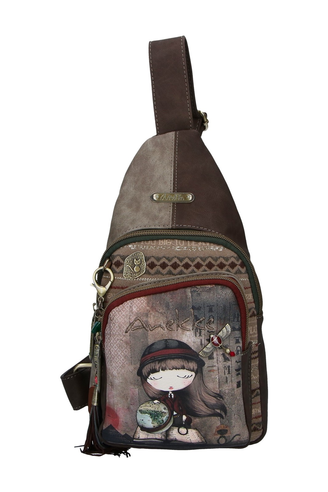 Anekke Small Backpack Egypt with an Exploradora Motif