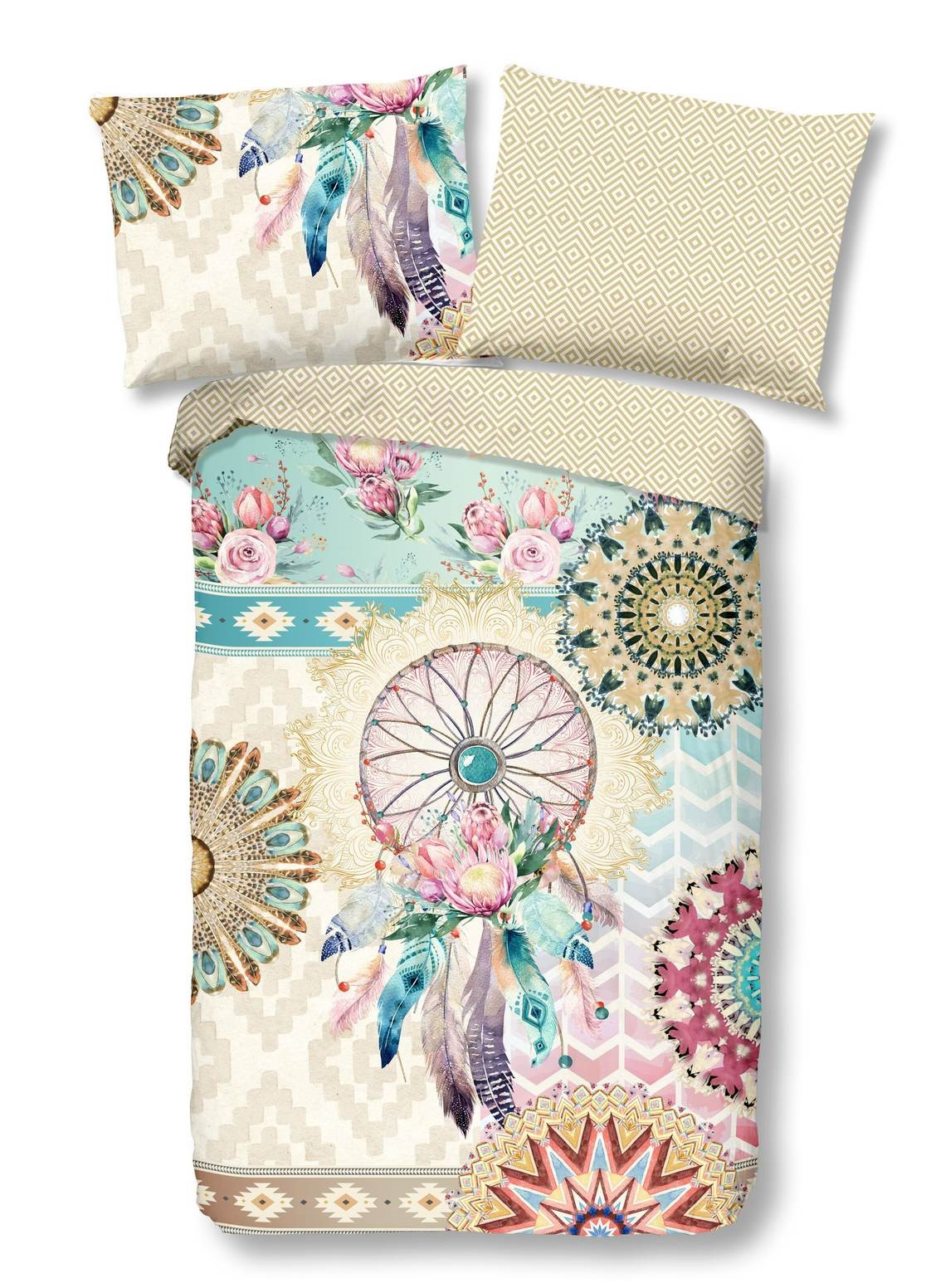 Home multicolor double-sided single bed bed linen Milena 140x200 cm