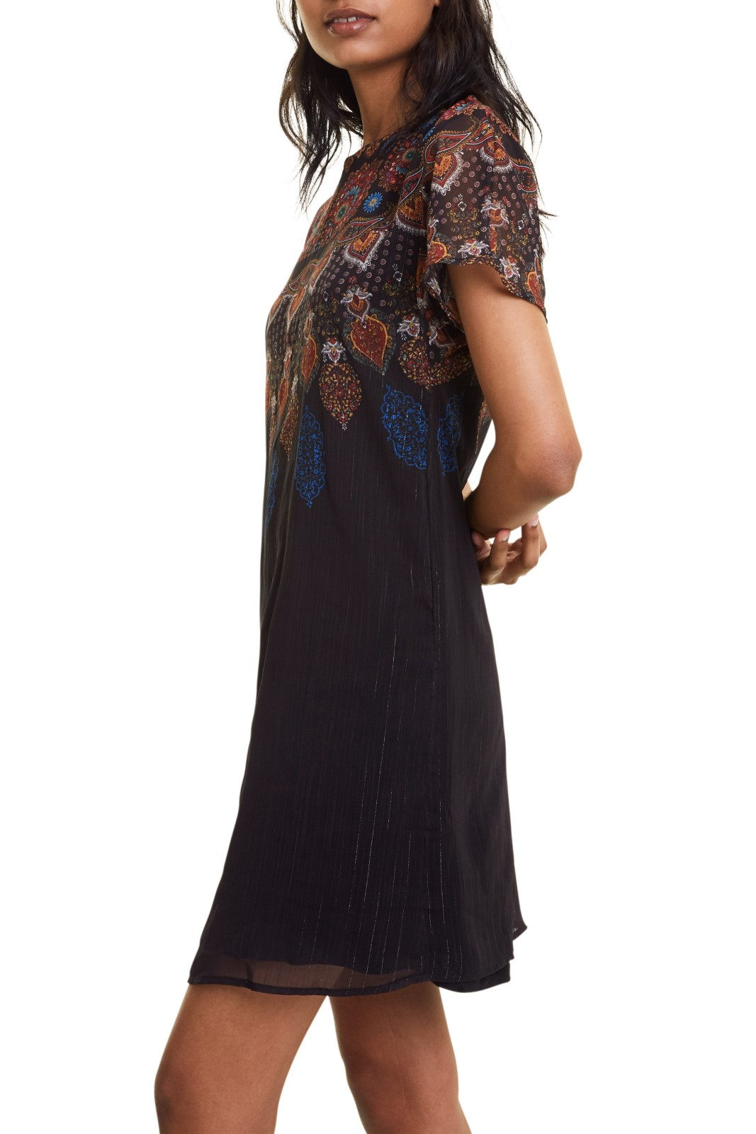 Desigual black dress Vest Mexican