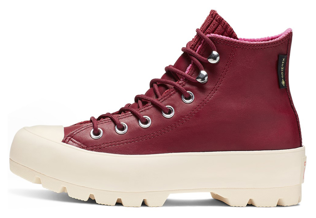 Converse wine / bordo leather sneakers Chuck Taylor All Star Lugged Winter Back Alley Brick/Habanero Red