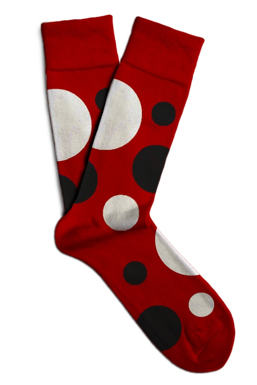 Soxit red unisex socks Space Red