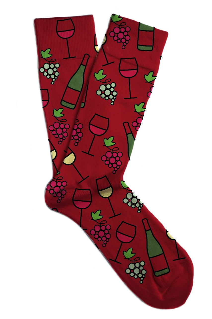 Soxit Wine Red Unisex Socks Red Wine