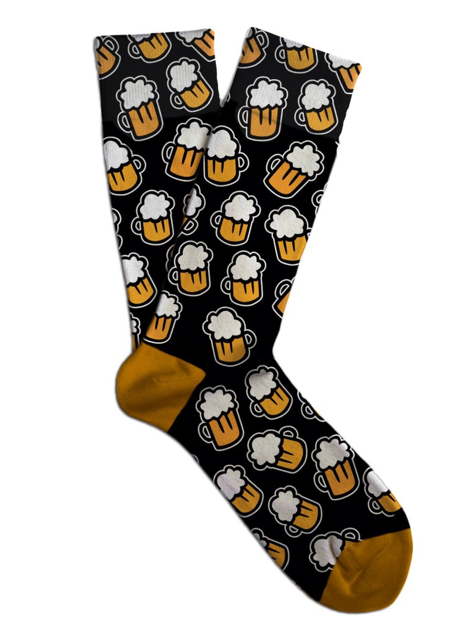 Soxit Black Unisex Socks Black Beer