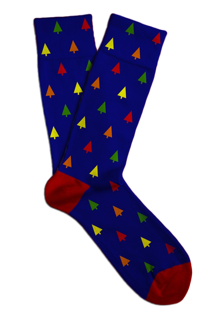 Soxit Blue Unisex Socks Trees