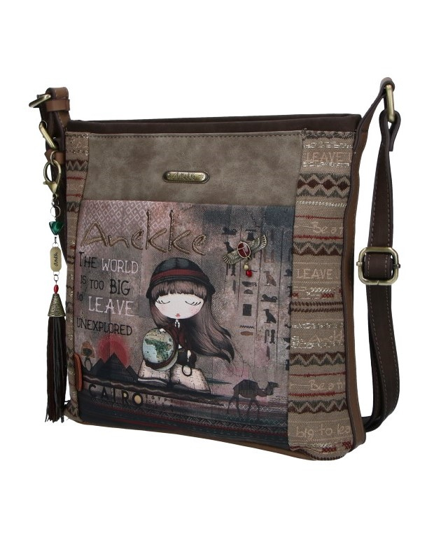 Anekke Medium Crossbody Handbag Egypt with an Exploradora Motive
